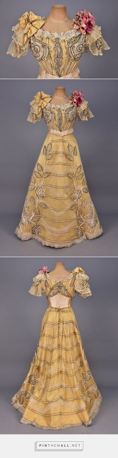 Duvall & Eagan evening dress ca. 1889 From Whitaker Auctions.