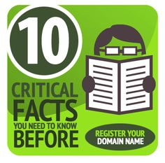 10 Critical Facts You Need to Know Before Registering Your Domain from EasyDNS. I'm so glad I read this first! Check out - great info. Craft Business, Online Business, Business Ideas, Online Marketing, Social Media Marketing, You Must, Things To Know, Web Design, Graphic Design
