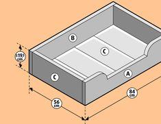 Wood Dog Bed, Diy Dog Bed, Dog Kennel Flooring, Dog Bedroom, Dog Kennel Designs, Diy Cat Toys, Dog Furniture, Dog Silhouette, Animal House