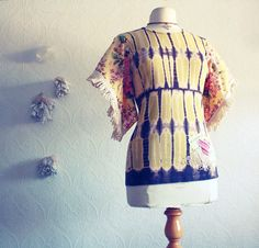 Women's Bohemian Top 70's Hippie Upcycled by BrokenGhostCouture, $49.00
