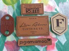 Parches de cuero de 150 etiquetas de cuero USA por CustomLabels4U