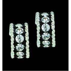 Montana Silversmiths Crystal Shine Cuff Earrings