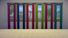 Mod The Sims - Steve7859 Curtain Recolors in 6 Bright Plain Colors
