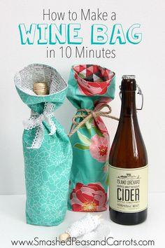 Wine Bottle Gift Bag Tutorial