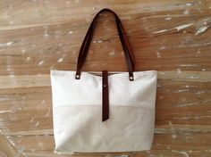 Tote Bag in natural linen and hemp Limited edition by MeryBradley