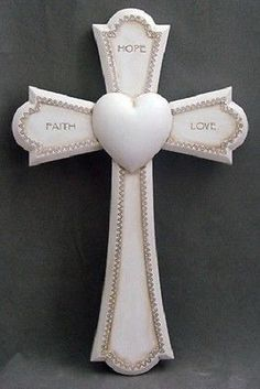 Faith Love and Hope Wall Cross – Beattitudes Religious Gifts