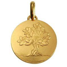 """Medaille Petit Prince Monnaie de Paris Médaille avec texte """"Je grandirai comme un arbre"""" (or jaune 18ct) €610"""