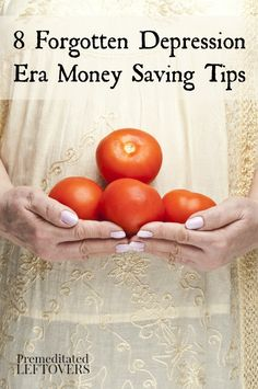 Start using these Depression Era Money Saving Tips to live on a budget! Here are some frugal tips from the Great Depression Era that can help you save money and spend less. Thrifty tips your Grandma knew and used. Ways To Save Money, Money Tips, Money Saving Tips, How To Make Money, How To Live Frugal, Money Week, Managing Money, Money Hacks, Earn Money