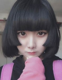 20 Hime Cut Styles Making The World Go Gaga! Gothic Hairstyles, Hairstyles With Bangs, Pretty Hairstyles, Straight Hairstyles, Asian Short Hair, Short Hair With Bangs, Short Hair Cuts, Girls Short Haircuts, Japanese Hairstyle