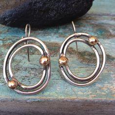 Cosmos. Sterling Silver earrings , handmade.