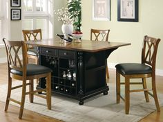 Pin this #102270 Slater Kitchen Island with Drop Leaves in Black Cherry By Coaster for only $999.99! Buy 5 more items in the store and get it at cost for $799.99! ***Guaranteed Lowest Prices!*** CITY CREEK FURNITURE, 3777 S HWY 92, SIERRA VISTA, AZ 85650, PH: 520-378-0999, HOURS: Monday thru Saturday, 10am-6pm.