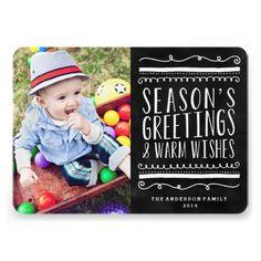 Cutest Season   Holiday Photo Card Custom Invitations