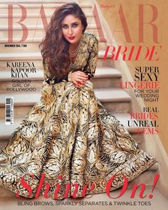 Kareena on Harper's @BazaarIndia's Nov, 2014 Bride Issue in http://www.AbuSandeep.com/ AbuJani  could she look any hotter?!