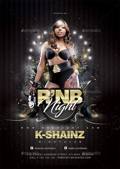 Rnb #Night #Flyer - Clubs & Parties #Events Download here: https://graphicriver.net/item/rnb-night-flyer/19512417?ref=alena994