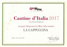 "award 'Impronta"" by Go Wine 2017"