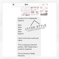"""46 Likes, 1 Comments - Interior Decorating (@jayde.style) on Instagram: """"Starting off my Monday right! 🌸🌸🌸 How gorgeous is this response from a client. Absolutely loved…"""""""