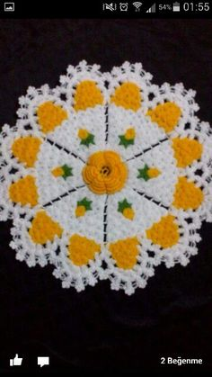 This Pin was discovered by gül Crochet Flower Patterns, Doily Patterns, Crochet Doilies, Crochet Flowers, Vintage Patterns, Knit Crochet, Crewel Embroidery, Embroidery Patterns, Teapot Cover