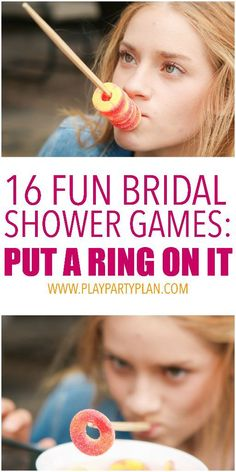 16 hilarious bridal shower games that don't suck! With everything from free printables to great games for large groups, these games are unique, easy to put together, and even include interactive options for couples!  And no toilet paper necessary! I'm definitely trying #3 at my sister's bridal shower!