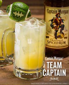Teams need Captains. Tailgates need the 'Team Captain'. Recipe: 1.5 oz Captain Morgan Original Spiced Rum 1.5 oz Orange Juice 0.5 oz Sour Mix 3 oz Lemon Lime Soda Get more rum recipes at https://us.captainmorgan.com/rum-cocktails/?utm_source=pinterest&utm_medium=social&utm_term=tailgate&utm_content=team_captain_2&utm_campaign=recipe