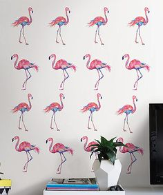 Loving this Pink Flamingo Decal Set on #zulily! #zulilyfinds