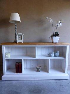French Country Beach House Hampton Style Low Line Bookshelf