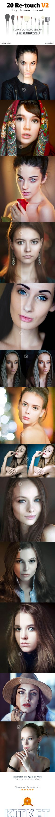 20 Retouch Preset — LRTemplate #hdr #professional preset • Available here → https://graphicriver.net/item/20-retouch-preset/17802358?ref=pxcr