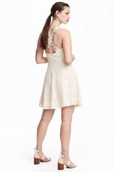 Lyhyt pitsimekko - Luonnonvalkoinen - Ladies | H&M FI