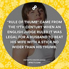 """""""The sexist origin of the \""""Rule Of Thumb\"""" xD #RuleOfThumb #8fact #Itwaslegalbackthen #finalsweek"""""""
