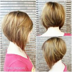 angled bob for round face