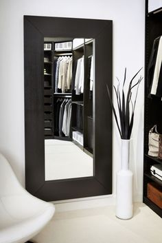 ***For the bedroom to be leaned against the wall or hung, verticle or horizontal. Either way, we can do it for you. (Mongstad mirror from IKEA)