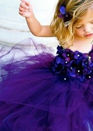 Love dark purple for the accent color. And the flower girl dress is precious