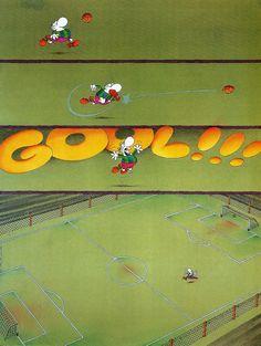 """Sonrisas Argentinas: Guillermo Mordillo: """"Poeta del ojo y del alma"""" Soccer Art, Humor Grafico, Folk Art, Recycling, Clip Art, Fantasy, My Favorite Things, Funny, Editorial"""