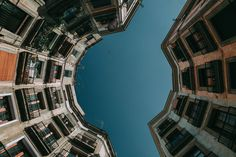 Awesome starts when you take the first step into your crazy imagination! Unsplash (Public Domain) #FreeToEdit #blue #urban #building #round #sky #balcons #architecture