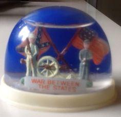 Vintage Snow Globe War Between The States Hong Kong Confederate CSA | eBay