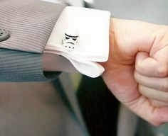 Storm Trooper silver toned cufflinks in gift box by crimsonking
