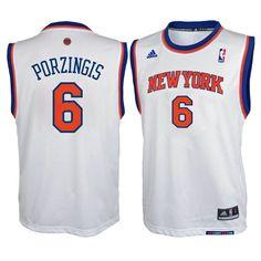cc3173fe9 Kristaps Porzingis New York Knicks adidas Youth Home Replica Jersey - White  -  49.99 New York