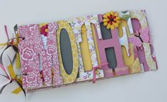 Mothers Day gift Word album for Mom Mother by sandysscrapbooks, $44.00