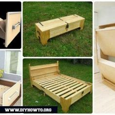 DIY Space Savvy Bed Frame Design Concepts Instructions