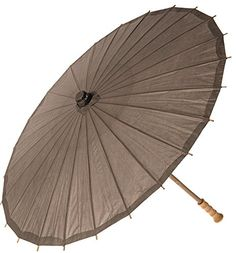 Paper Parasol Driftwood Grey) - Chinese/Japanese Paper Umbrella - For Weddings and Personal Sun Protection Japanese Restaurant Design, Paper Umbrellas, Lilac Grey, Japanese Paper, Paper Cover, Rice Paper, Wooden Handles, Driftwood, Bamboo