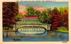 Boat House and Lake, Prospect Park, Brooklyn, N.Y. by Jasperdo, via Flickr