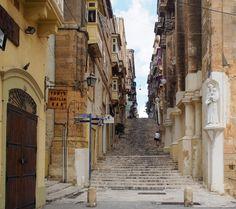 Exploring the backstreets of Valletta, Malta's laid back capital.