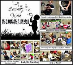 Bubble Fun! Repinned by Apraxia Kids Learning. Come join us on Facebook at Apraxia Kids Learning Activities and Support- Parent Led Group.