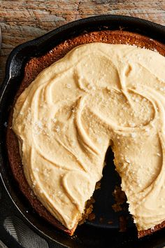 NYT Cooking: This buttery cake is filled with soft, caramel-infused apples and topped with an easy caramel frosting. It's better to err on the side of underbaking the cake slightly, since it makes for a gooier end result.