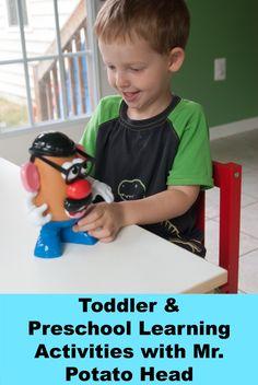 3 Toddler & Preschool Learning Activites with Mr. Potato Head - Simply Stavish