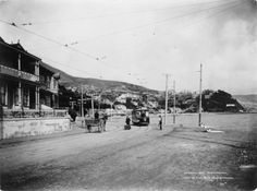 Muir and Moodie fl Oriental Parade, Oriental Bay, Wellington Wellington City, The Hutt, Old Pictures, New Zealand, Street View, Horses, History, Oriental, Image