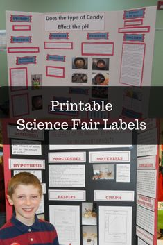 Don't waste your time trying to create labels that will fit on the board.  These labels are sized just right to fit on a 3 ft. x 4 ft. display board.  This template is designed to help students independently create titles for their science fair board and other projects. They can use the labels as is or change the font, color, and board.