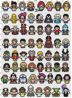 PATTERN ONLY about 9 inches by 13 inches 14 pt cloth Contains: Adam, Aladdin, Alice, Anna, Ariel, Aurora, Beast, Belle, Buzz Lightyear, C-3PO, Hook, Cinderella, Cruella de Ville, Darth Vador, Elsa, Eric, Esmerelda, Evil Queen, Facilier, Florien, Flynn Rider, Frollo, Gaston, Hades, Han