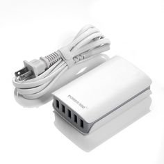 5 Port, High Capacity USB Wall Charger – 25Watt, Charge 5 devices at once! #Poweradd