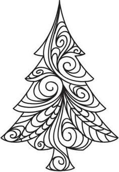 COLORIAGE Christmas tree by unrbanthreads