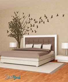 Birds Flying From Tree Vinyl Wall Decal Sticker